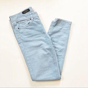 {J. Crew} light blue toothpick corduroy pants sz25